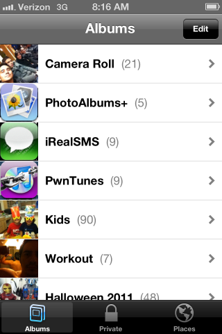 how to download photo albums from iphone to pc